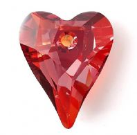 Red Magma 12mm 6240 Swarovski Wild Heart Pendant